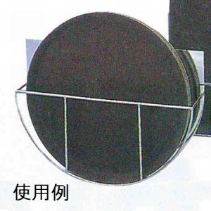 画像2: 18-8丸盆ラック 壁掛式(14インチ用)