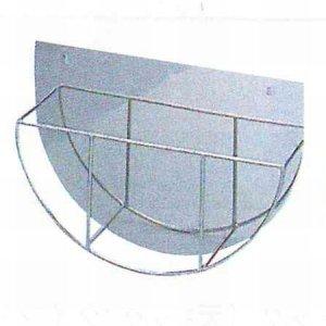 画像1: 18-8丸盆ラック 壁掛式(14インチ用)