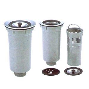 画像1: 塩ビ小型排水トラップ40A(オーバーフロー無し)