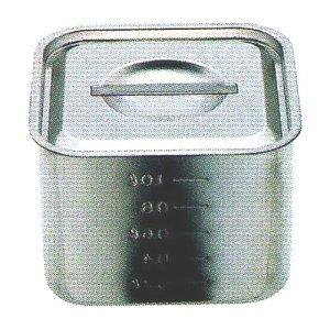 画像1: スギコ 18-8 目盛付浅型角キッチンポット