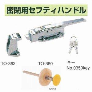 画像1: 密閉用セフティハンドルセット(キー・受座・安全棒付) プレハブ冷凍庫に