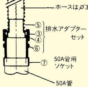 画像1: 排水アダプターセット(ホース式)