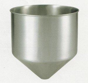 画像1: ステンレス 深型ホッパー(穴無し)