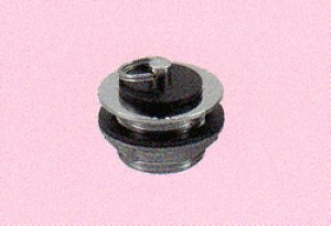 画像1: 真鍮共栓(ゴム栓付き)